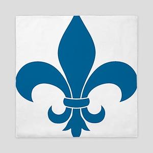 Blue Fleur de lis French Pattern Parisian Design Q