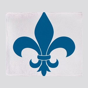 Blue Fleur de lis French Pattern Parisian Design T