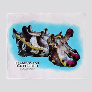 Flamboyant Cuttlefish Throw Blanket