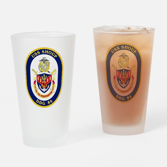 DDG 86 USS Shoup Drinking Glass