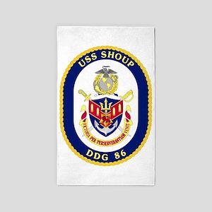 DDG 86 USS Shoup 3'x5' Area Rug