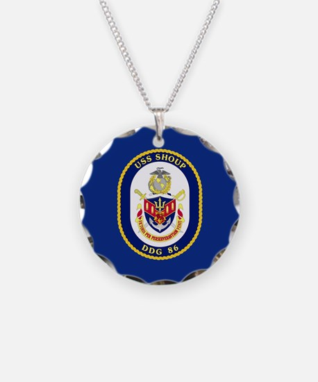 DDG 86 USS Shoup Necklace