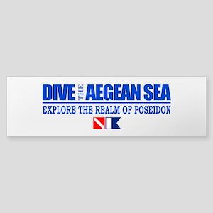 Dive The Aegean Sea Bumper Sticker