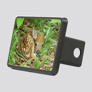spotted fawn Rectangular Hitch Cover