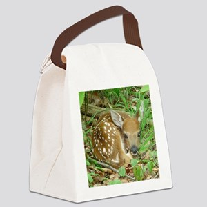 spotted fawn Canvas Lunch Bag