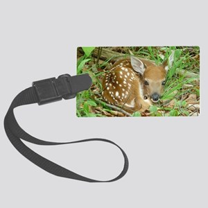 spotted fawn Large Luggage Tag