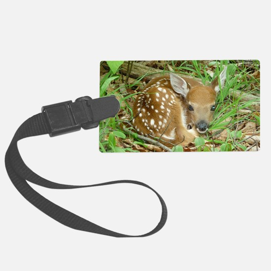 spotted fawn Luggage Tag
