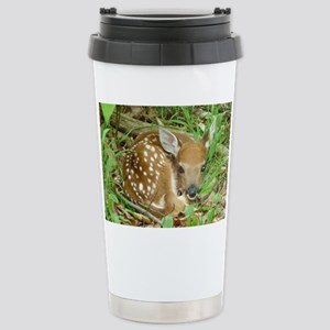 spotted fawn Stainless Steel Travel Mug
