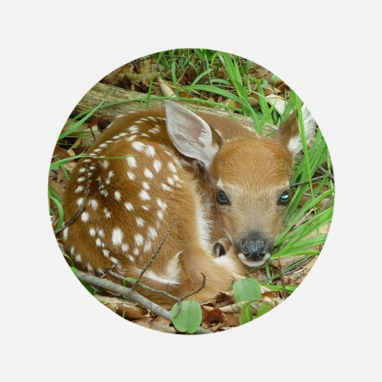 """spotted fawn 3.5"""" Button"""