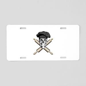 Chef Crossed Rolling Pins Black Aluminum License P