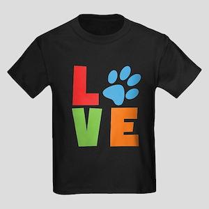 L(paw)VE Kids Dark T-Shirt