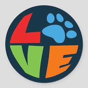 L(paw)VE Round Car Magnet