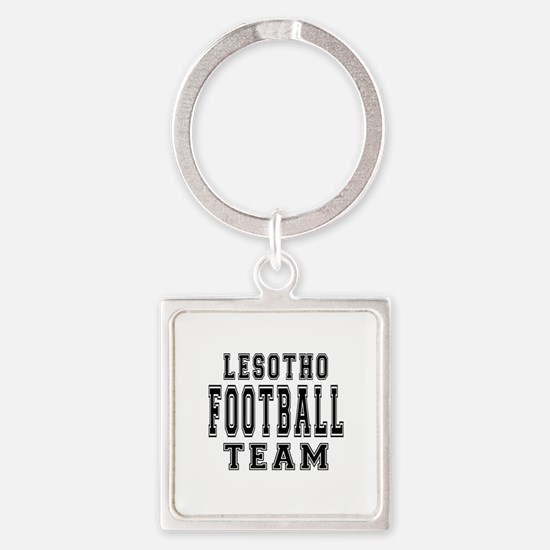 Lesotho Football Team Square Keychain