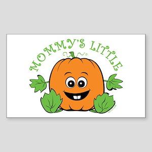 Mommy's Little Pumpkin Sticker (Rectangle)