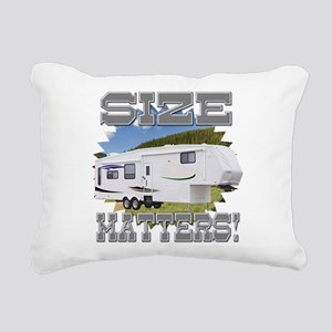 Size Matters Fifth Wheel Rectangular Canvas Pillow