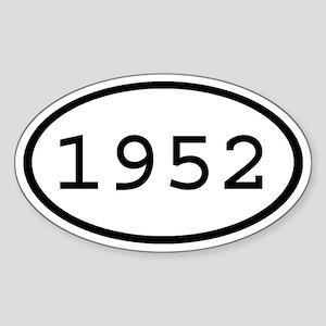 1952 Oval Oval Sticker