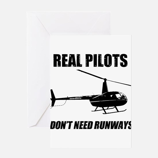 Real Pilots Dont Need Runways Greeting Cards