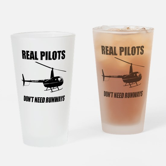 Real Pilots Dont Need Runways Drinking Glass