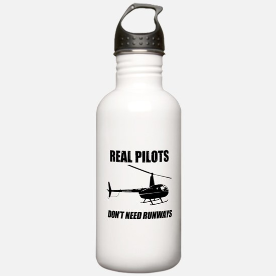 Real Pilots Dont Need Runways Water Bottle