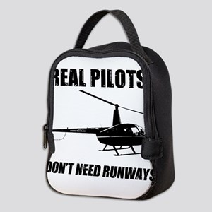 Real Pilots Dont Need Runways Neoprene Lunch Bag