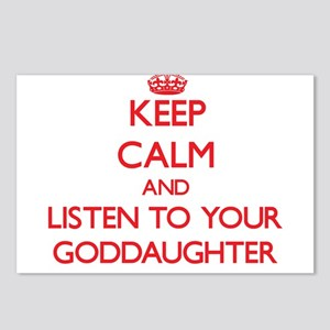Keep Calm and Listen to your Goddaughter Postcards