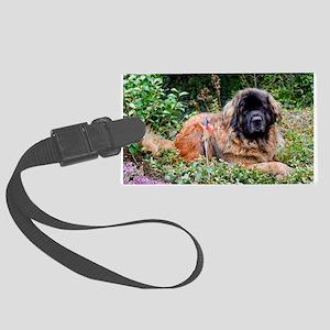 Leonberger dog Large Luggage Tag