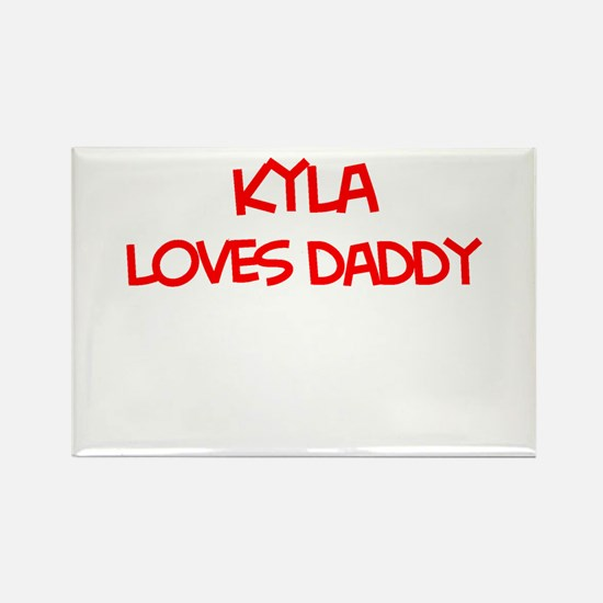 Kyla Loves Daddy Rectangle Magnet