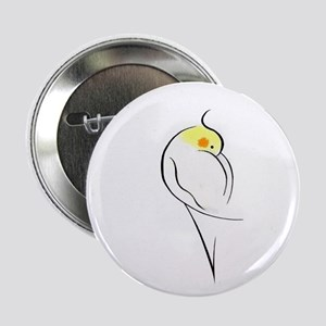 Lutino Cockatiel Button