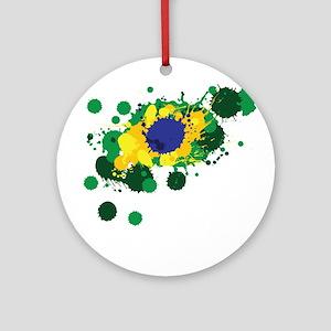 Brazil Flag- Ornament (Round)