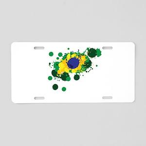 Brazil Flag- Aluminum License Plate
