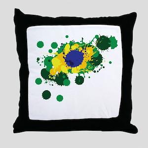 Brazil Flag- Throw Pillow