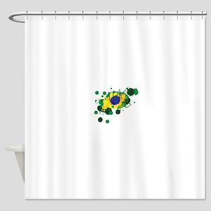 Brazil Flag- Shower Curtain