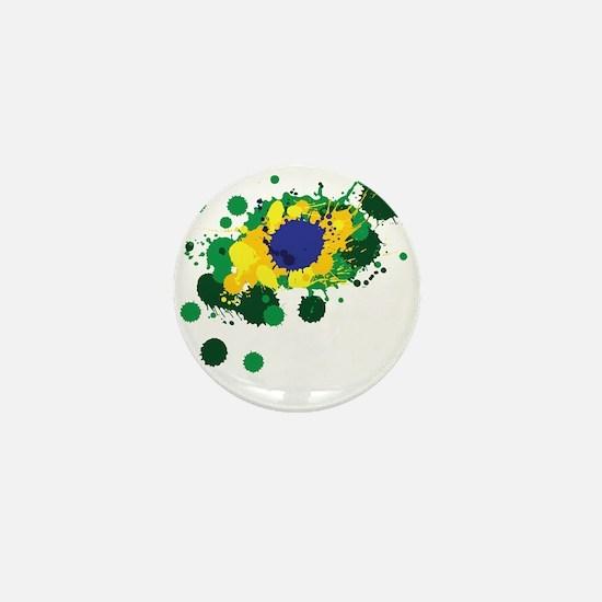 Brazil Flag- Mini Button