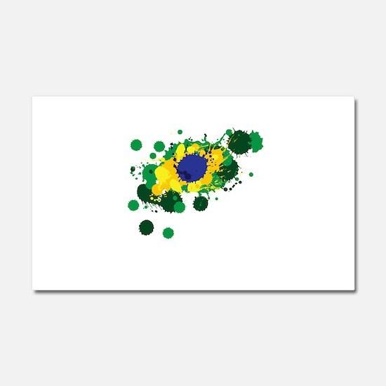 Brazil Flag- Car Magnet 20 x 12