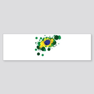 Brazil Flag- Bumper Sticker