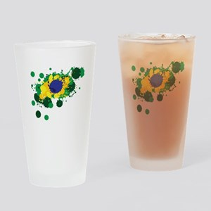 Brazil Flag- Drinking Glass