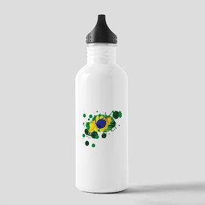 Brazil Flag- Water Bottle