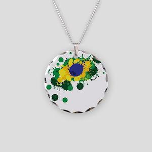 Brazil Flag- Necklace
