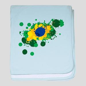 Brazil Flag- baby blanket