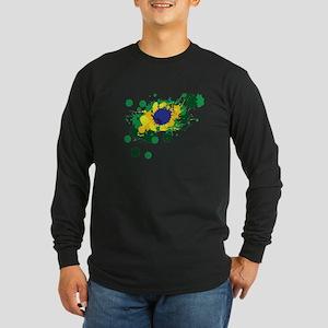 Brazil Flag- Long Sleeve T-Shirt