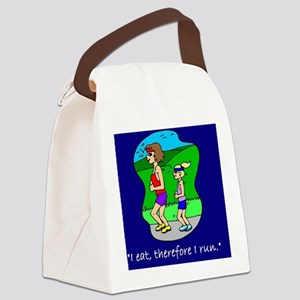 I eat, therefore I run Canvas Lunch Bag