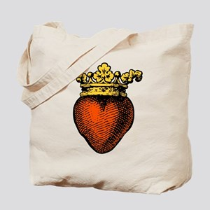 Medieval Crowned Heart, gold Tote Bag
