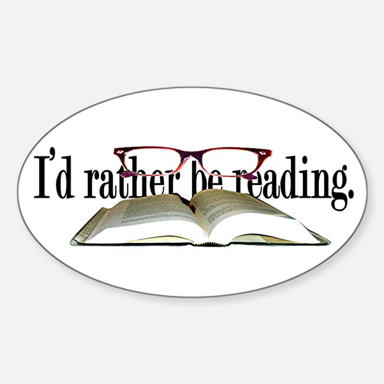 Funny Book Sticker (Oval)