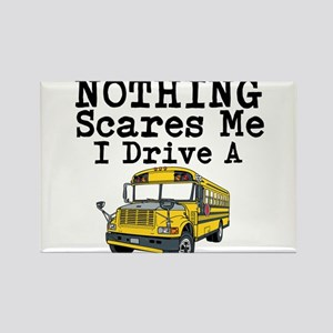 Nothing Scares Me I Drive a School Bus Magnets