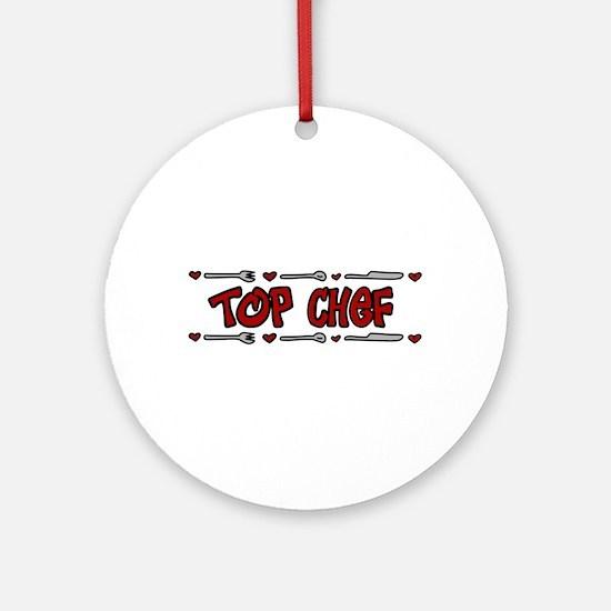 Top Chef Ornament (Round)