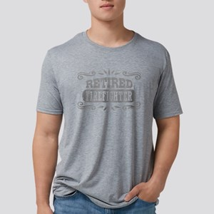 Retired Firefighter Mens Tri-blend T-Shirt