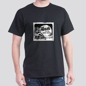Vintage Florida Ad - Train Dark T-Shirt