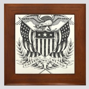United We Stand Framed Tile