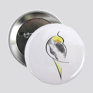 Pied Cockatiel Button