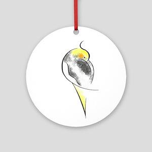 Pied Cockatiel Ornament (Round)